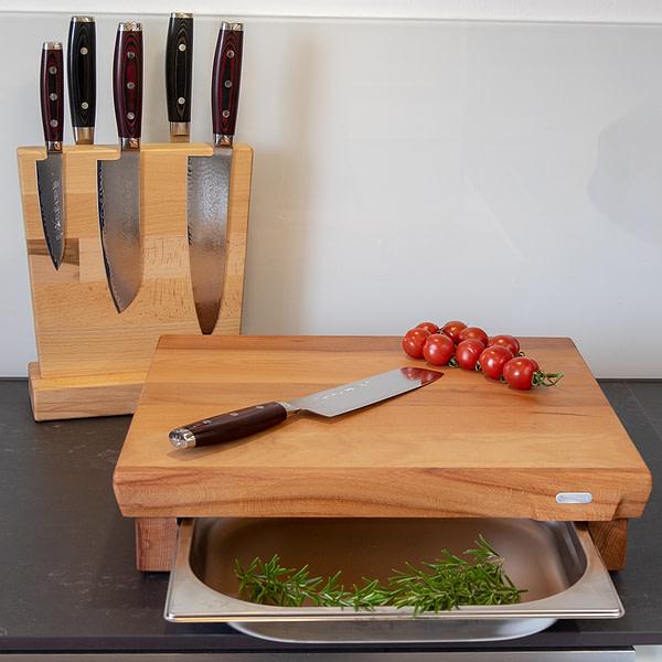 OxclusiviA Schneidebrett Buche Standard Küche